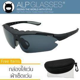 2deb4a5ab7b ALP Polarized Sunglasses แว่นกันแดด Sport Style รุ่น ALP-0074-BKS-BKP (